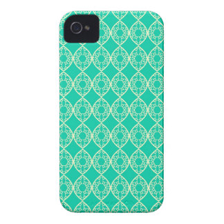 Abstract turquoise iPhone 4 cases
