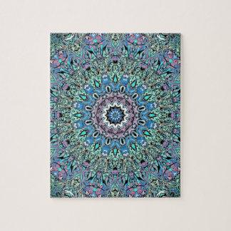 Abstract Turquoise Mandala Jigsaw Puzzle