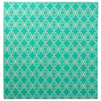 Abstract turquoise napkin