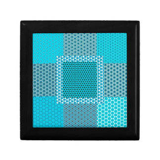Abstract Turquoise Pattern Gift Box