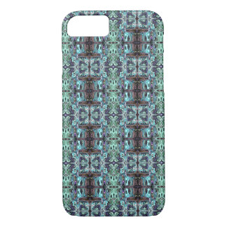 Abstract Turquoise Pattern iPhone 7 Case