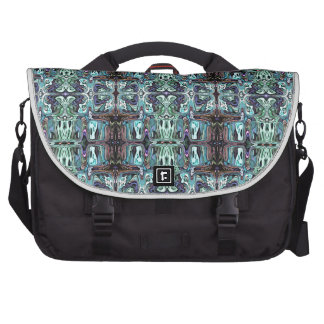 Abstract Turquoise Pattern Laptop Computer Bag
