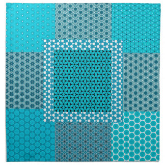 Abstract Turquoise Pattern Napkin