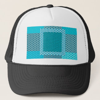 Abstract Turquoise Pattern Trucker Hat