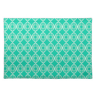 Abstract turquoise placemat