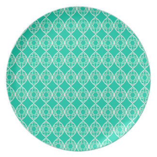 Abstract turquoise plate