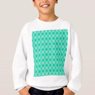 Abstract turquoise sweatshirt