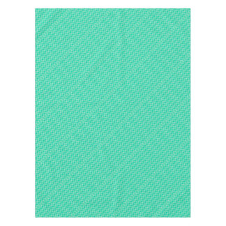 Abstract turquoise tablecloth