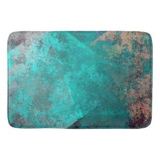 abstract turquoise teal grunge texture background bath mat