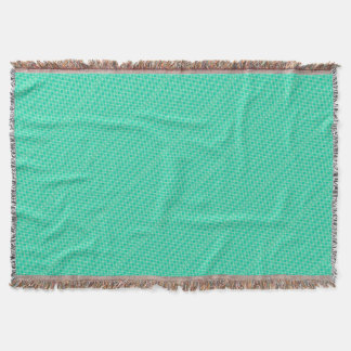 Abstract turquoise throw blanket