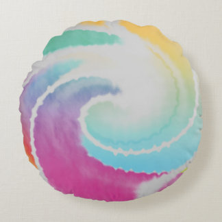 Abstract Twirl Round Cushion