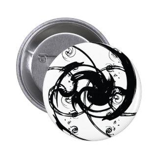 Abstract Twist 6 Cm Round Badge