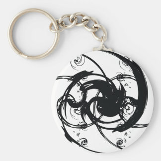 Abstract Twist Key Ring