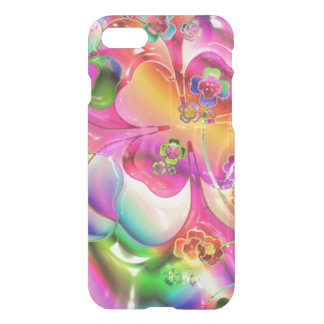 Abstract Twisted Color Flowers iPhone 7 Case
