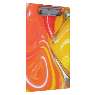 Abstract Twisted Design Clipboard