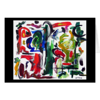 Abstract Typical Day  Card