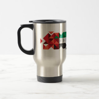 Abstract UAE Flag, United Arab Emirates Mug