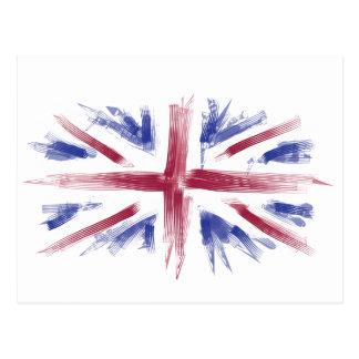 Abstract UK Flag Postcard