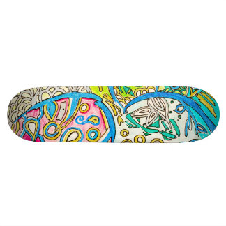 Abstract Underwater Drawing Skateboard Deck Design