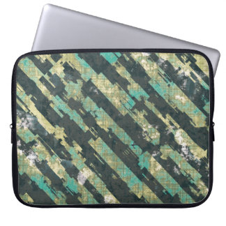 Abstract Urban Distorted Lines Background Blue Laptop Sleeve