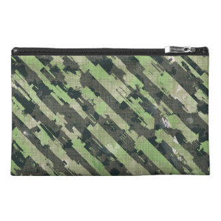 Abstract Urban Distorted Lines Background Green Travel Accessory Bag