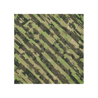 Abstract Urban Distorted Lines Background Green Wood Wall Art