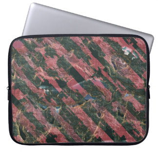 Abstract Urban Distorted Lines Background Pink Laptop Sleeve
