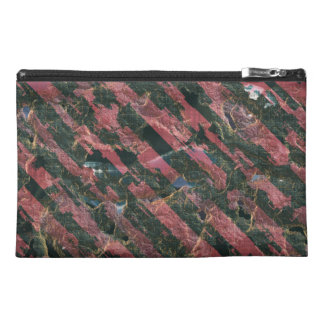 Abstract Urban Distorted Lines Background Pink Travel Accessory Bag