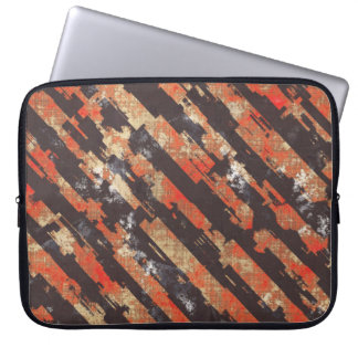 Abstract Urban Distorted Lines Background Red Laptop Sleeve
