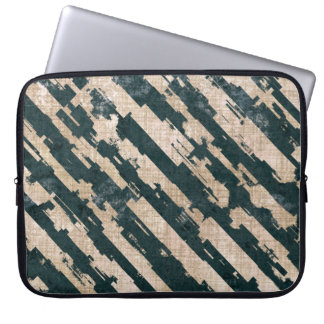 Abstract Urban Distorted Lines Background White Laptop Sleeve