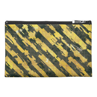 Abstract Urban Distorted Lines Background Yellow Travel Accessory Bag