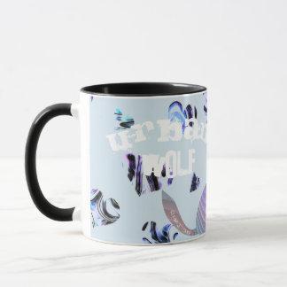 Abstract Urban Wolf All-Over-Print Coffee Mug. Mug