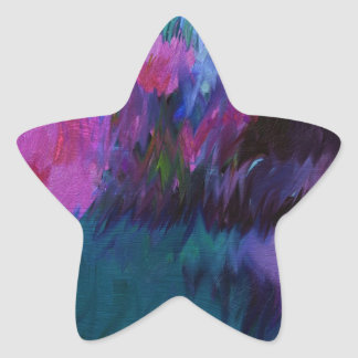 abstract vanity star sticker