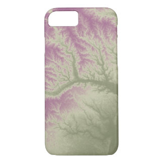 Abstract Variations- Georgia- Green to Purple iPhone 8/7 Case