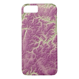 Abstract Variations- Idaho- Green to Purple iPhone 8/7 Case