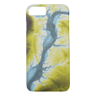 Abstract Variations- Illinois- Blue to Yellow iPhone 8/7 Case