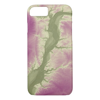 Abstract Variations- Illinois- Green to Purple iPhone 8/7 Case