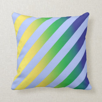 Abstract vector striped throw pillow