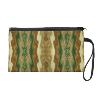 Abstract Vertical Striped Pattern Wristlet Clutch