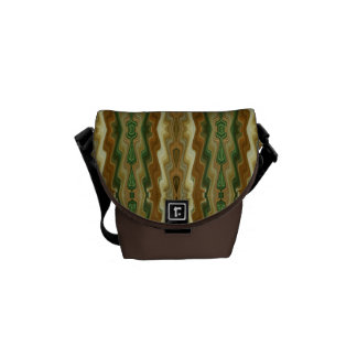 Abstract Vertical Striped Pattern Courier Bag
