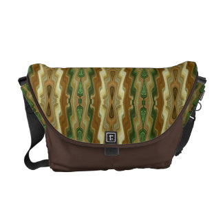 Abstract Vertical Striped Pattern Messenger Bag