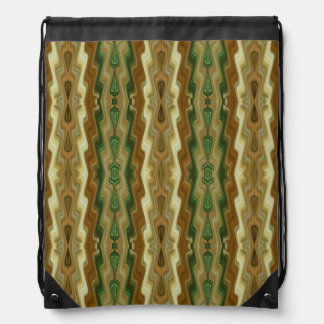 Abstract Vertical Striped Pattern Drawstring Bag