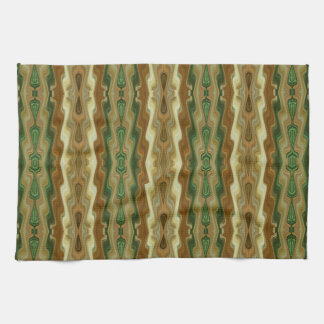 Abstract Vertical Striped Pattern Hand Towels
