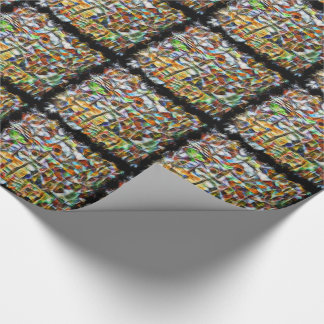 Abstract vibrant bark tiled paper