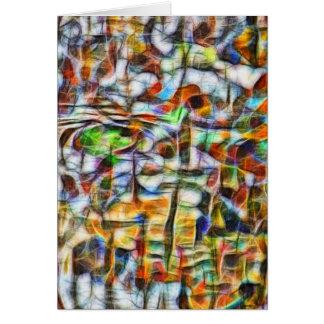 Abstract vibrant bark vertical card