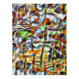 Abstract vibrant bark vertical postcard