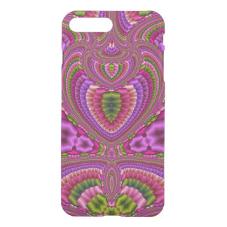 Abstract vibrant colorful fractal hearts iPhone 7 plus case