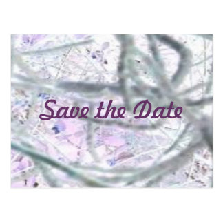 Abstract Vines, Save the Date Postcards