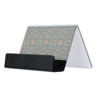 Abstract vintage background desk business card holder