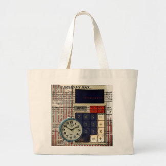 Abstract vintage calculator retro electronics tote bags